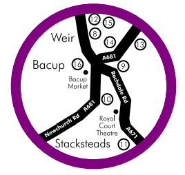 Bacup Food and Drink Guide Map