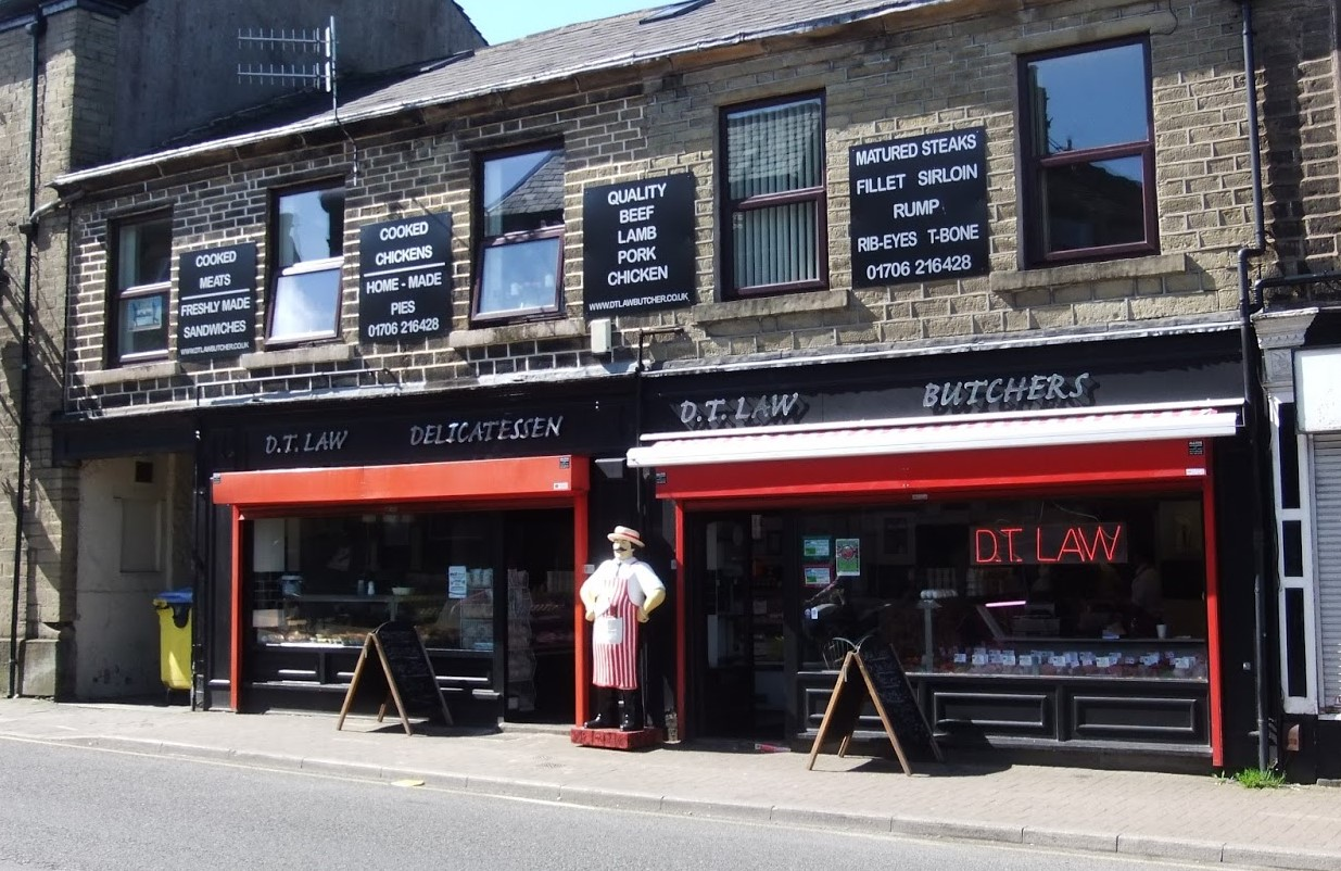 DT Laws Butchers in Haslingden cutting back on plastic