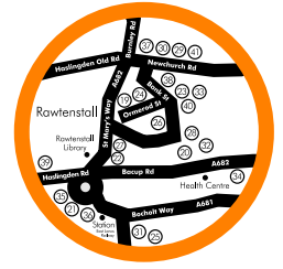 Rawtenstall Food and Drink Guide Map
